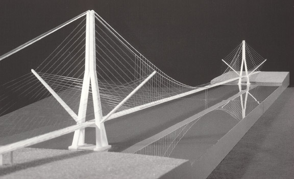 cable stayed and suspension bridge